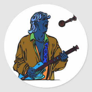 singer male realistic invert.png classic round sticker