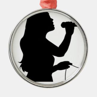 SINGER METAL ORNAMENT