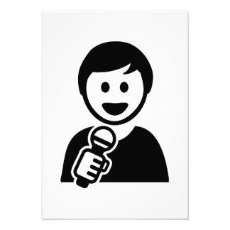 Singer microphone personalized invite
