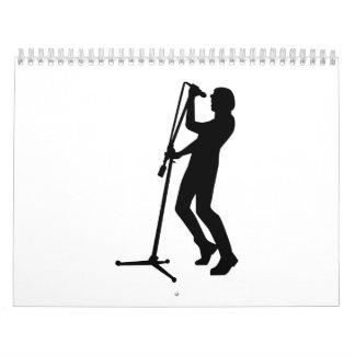 Singer microphone stage calendar