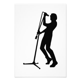 Singer microphone stage personalized invitations