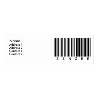 Singer Mini Business Card