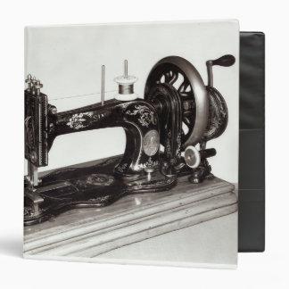Singer 'New Family' sewing machine, 1865 3 Ring Binder