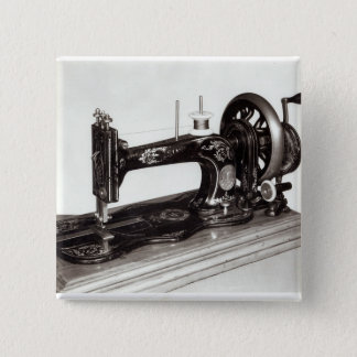 Singer 'New Family' sewing machine, 1865 Button
