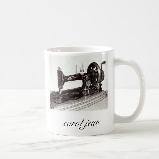 Singer-New-Family-Sewing-Machine-1865-Giclee-Pr... Classic White Coffee Mug