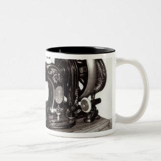 Singer 'New Family' sewing machine, 1865 Two-Tone Coffee Mug