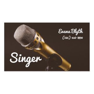 Singer, Performer, Vocalist, Music Business Card