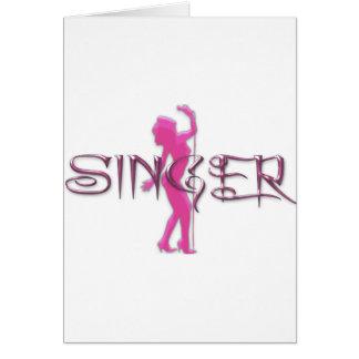Singer Pink Card
