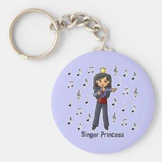 Singer Princess Basic Round Button Keychain