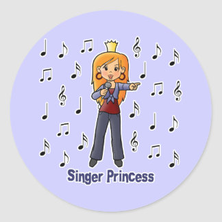 Singer Princess Classic Round Sticker