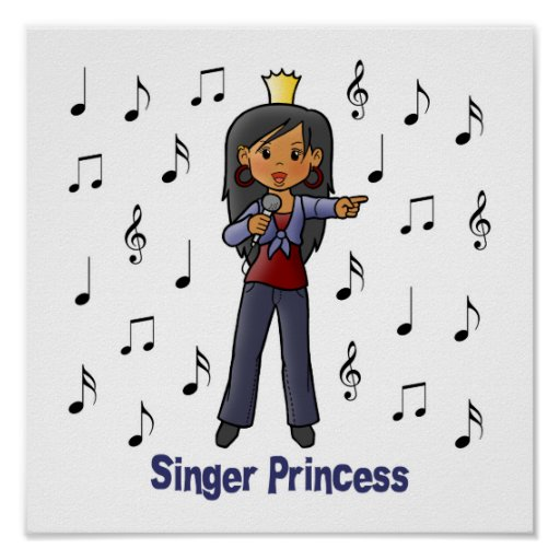 Singer Princess Poster
