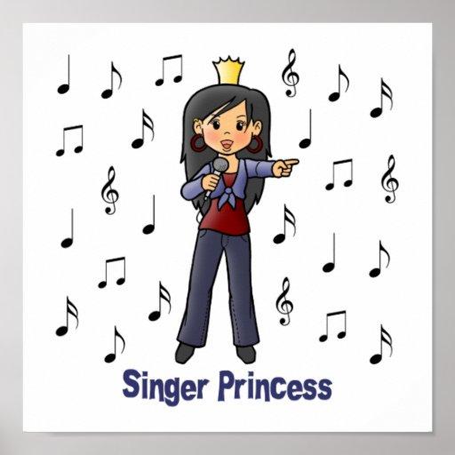 Singer Princess Posters