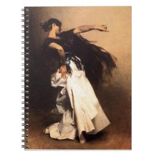 Singer Sargent Spanish Dancer Notebook