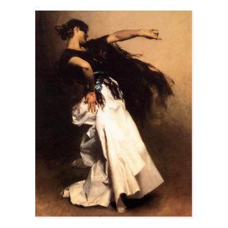 Singer Sargent Spanish Dancer Postcard