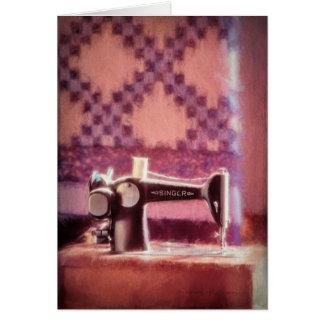 Singer Sewing Machine Greeting Card