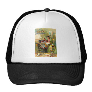 Singer Sewing Machine The First Lesson Vintage Trucker Hats