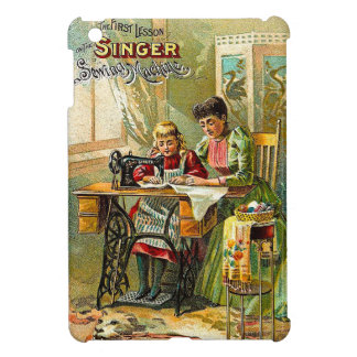 "Singer Sewing Machine ""The First Lesson"" Vintage iPad Mini Covers"