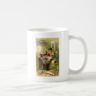 """Singer Sewing Machine """"The First Lesson"""" Vintage Mugs"""