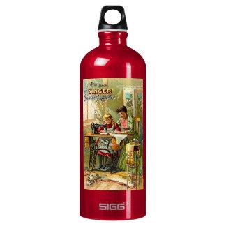 "Singer Sewing Machine ""The First Lesson"" Vintage SIGG Traveler 1.0L Water Bottle"