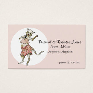 Singer-Soloist Cool Cat Contact Business Card