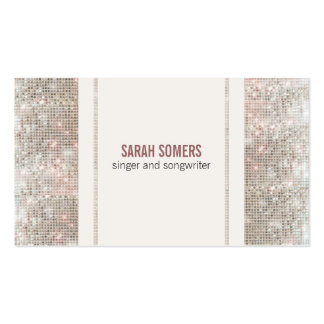 Singer Songwriter Sequins Look Business Cards