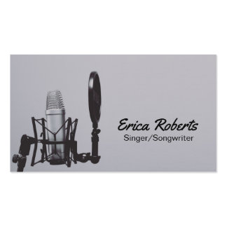 Singer Songwriter Vocalist Professional Music Business Card