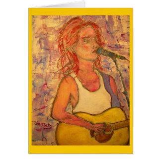 singer songwriters Music Poetry Card