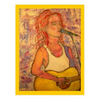 singer songwriters Music Poetry Postcard