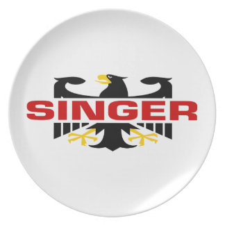 Singer Surname Dinner Plates