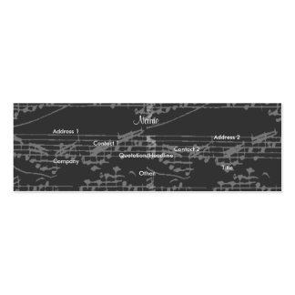Singer Vintage Grey I Notes - Customizable Double-Sided Mini Business Cards (Pack Of 20)