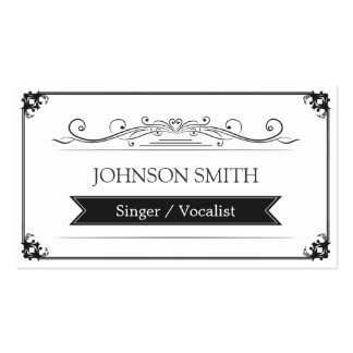 Singer / Vocalist - Classy Vintage Frame Double-Sided Standard Business Cards (Pack Of 100)