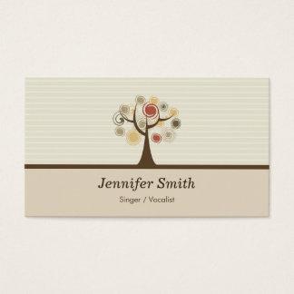 Singer / Vocalist - Elegant Natural Theme Business Card