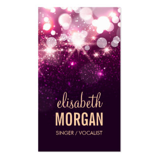Singer / Vocalist - Pink Glitter Sparkles Double-Sided Standard Business Cards (Pack Of 100)