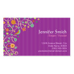 Singer / Vocalist - Purple Nature Theme Double-Sided Standard Business Cards (Pack Of 100)