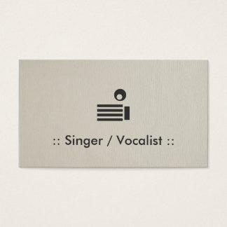 Singer / Vocalist Simple Elegant Professional Business Card