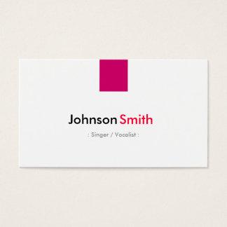 Singer / Vocalist - Simple Rose Pink Business Card