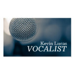 Singer, Vocalist, Solo, Performance Entertainment Double-Sided Standard Business Cards (Pack Of 100)