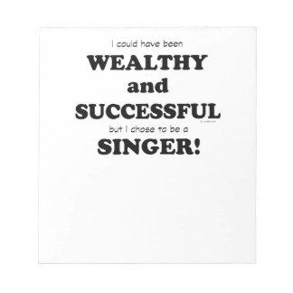 Singer Wealthy & Successful Memo Notepads