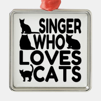 Singer Who Loves Cats Ornament