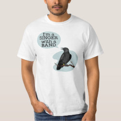Men's Crew Value T-Shirt with Singer With A Band design
