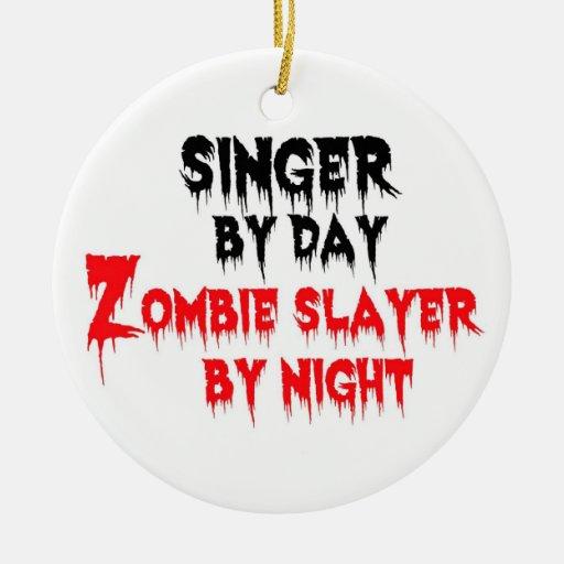 Singer Zombie Slayer Christmas Ornaments