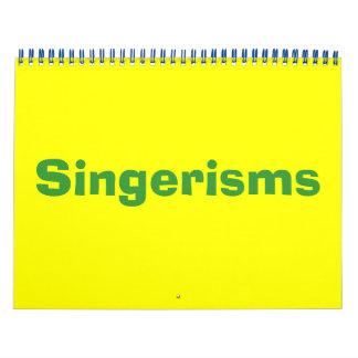 Singerisms Calendar