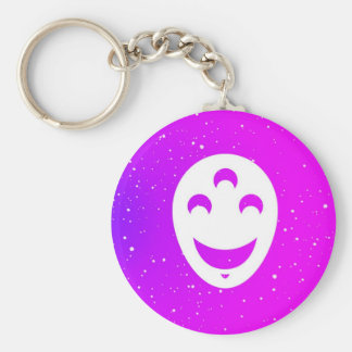 Singer's Happy Face Keychain