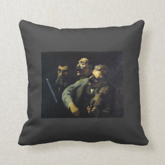 Singers in Front of a Desk by Honore Daumier Throw Pillows