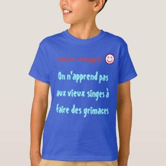 singes, grimaces, rigolo, amusant, drole, dessin, T-Shirt