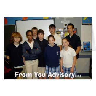 Singh Advisory, From You Advisory... Card