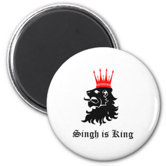 Singh is King 2 Inch Round Magnet