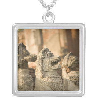 Singhat Wat Thammikarat Silver Plated Necklace