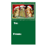 Singin Cats Christmas Gift Tags Business Card Templates
