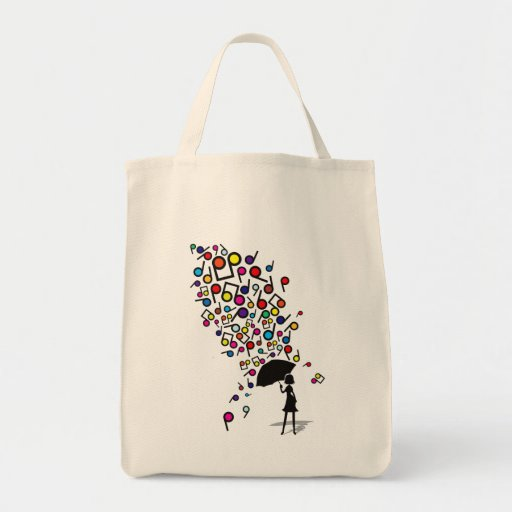 Singin en la lluvia bolsa tela para la compra